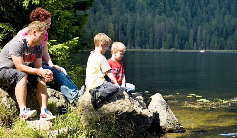 Familie am Arbersee
